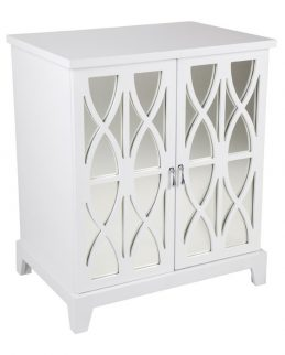 alistair side table white