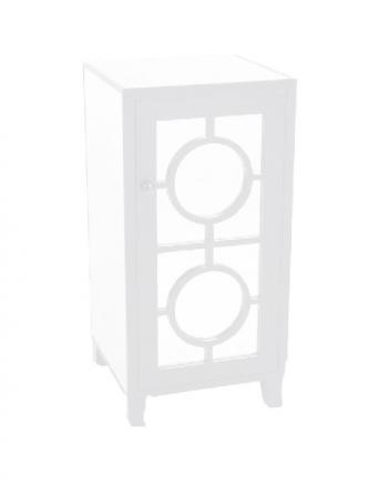 stockton side table white