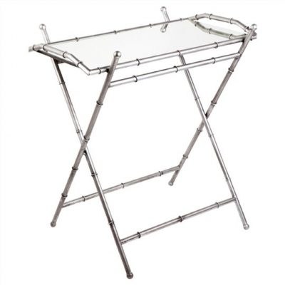 Tansu Tray Table - Antique Silver