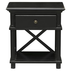SORRENTO BEDSIDE TABLE BLACK