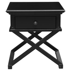 SORRENTO CROSS LEG SIDE TABLE BLACK – BEDSIDE TABLE