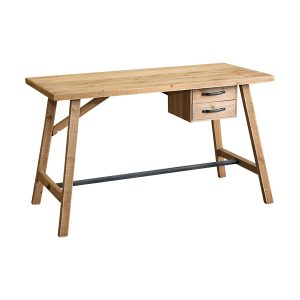 NATURAL TIMBER DESK WITH 2 DRAWS