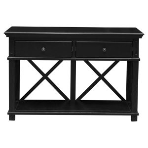 SORRENTO TWO DRAWER CONSOLE BLACK