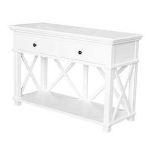 SORRENTO TWO DRAWER CONSOLE WHITE