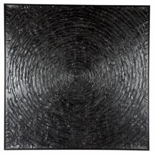 BLACK VORTEX WALL ART