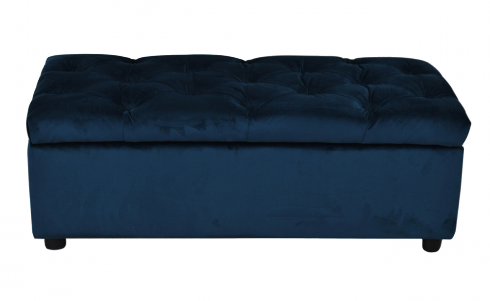 Pippa Storage Ottoman Navy Inhouse Collections