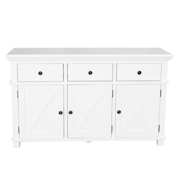 Sorrento White 3 Drawer Buffet Inhouse Collections