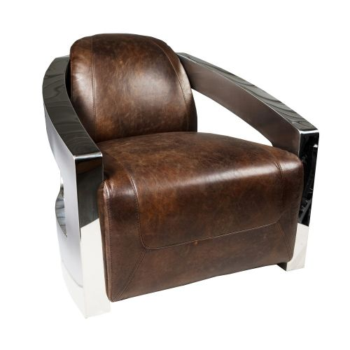 Aviator Armchair Walnut Leather Inhouse Collections