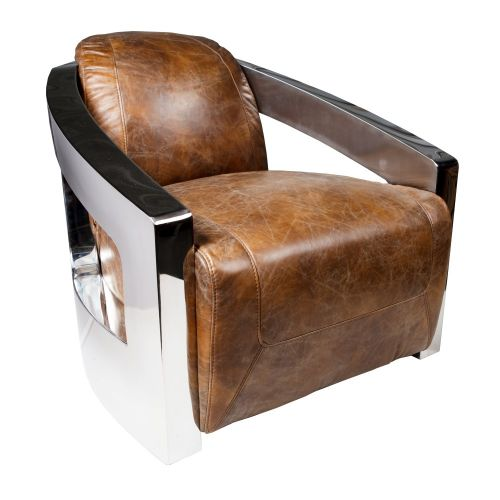 Aviator Armchair Tan Leather Inhouse Collections